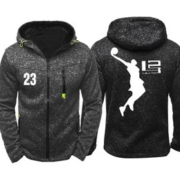 68935783 Lebron James Men Sports Casual Wear Hoodies Zipper Fashion Tide Jacquard  Fall Sweatshirts Spring Autumn Jacket Coat Tracksuit Tops