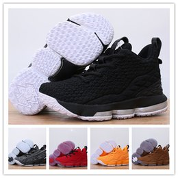 84c4addc48e 2019 luxury designer Ashes Ghost Floral Boy girl youth Lebrons 15  Basketball Shoes Lebron kids Children Sneaker 15s sports Shoes James