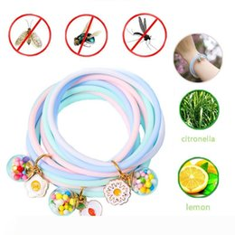 fruit bracelets UK - 12 Styles Surrounding Repellent Bracelets Cartoon Fruit Flower Pendant Summer Outdoor Children's Fragrance Deworming Bracelet