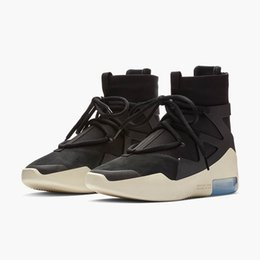 $enCountryForm.capitalKeyWord UK - 2019 New Fear of God 1 Fog shoes Boots Fashion Designer Boots Shoes Black Grey Zoom Women Sneakers With Box Size 5-11