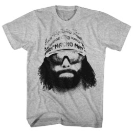 3164a863b Macho Man Randy Savage Wrestling T-Shirt 100% Officially Licensed Sizes SM  - 5XLFunny free shipping Unisex Casual Tshirt