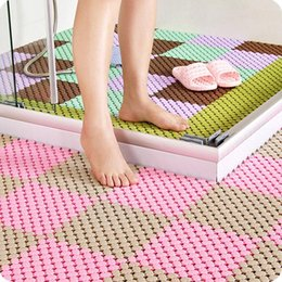 Kitchen Puzzle Australia - DIY Bathroom Mat Non-slip Puzzle Massage Bathroom for Kitchen supplies Protect old and children carpet