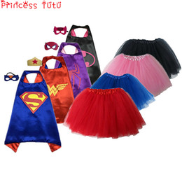$enCountryForm.capitalKeyWord Australia - PRINCESS TUTU 15 Color Kids Superhero Supergirl Costumes Boys Girls Skirts Capes with Masks Party Favor Dress Up Cosplay