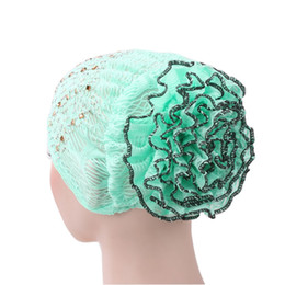 men fashionable cap 2019 - Fashionable Rhinestone Women Muslim Hijab Hat Bohemia Style Lady Turban Cap Beanie Scarf Turban Head Wrap Cap Accessorie