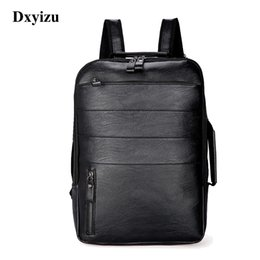 $enCountryForm.capitalKeyWord Australia - 2019 New Male Fashion Casual Bag Men Women Waterproof Backpack for Travel Quality PU Leather Backpacks Laptop Computer BookbagMX190903