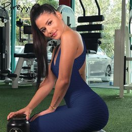 China Sportswear Workout Clothes For Women Sexy Legging Yoga Sport Suit Bandage Gym Bodysuit Fitness Costume Sports Jumpsuit Plus Size Y190508 supplier sexy women army costumes suppliers