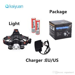 Xml T6 3x Headlamp Australia - DHL ship 5000LM JR-3000 3X CREE XML T6 LED Headlamp Headlight 4 Mode Head Lamp + AC Charger +2*18650 battery for bicycle light Sport lights