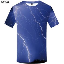 Ivory Lycra Shirt Australia - wholesale Galaxy T Shirt Men Blue Lightning Tshirt Hip Hop Tee Mountain 3d Print T-shirt Cool Funny T Shirts Anime Mens Clothing