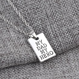 $enCountryForm.capitalKeyWord Australia - Father Day letters My Dad My Hero Fashion Charm Pendant Necklace Jewelry Alloy Wholesale Love Men Cool Best Gift Party ZJ-0903795