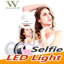 portable flashes UK - Universal Selfie LED Ring Flash Light Portable Mobile Phone Selfie Lamp Luminous Ring Clip For iPhone X XS Mas 8 Plus Samausng S9 S10