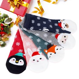 Funny Christmas Socks Canada - Hot Selling Cotton Women's Socks Colorful Cartoon Cute Funny Christmas Cartoon Print Socks for Girl Christmas Gift