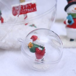 $enCountryForm.capitalKeyWord NZ - 1PC 6 8 10cm Transparent Open Plastic Heart Christmas Tress Decorations Ball Clear Bauble Ornament Gift Present Box Decoration