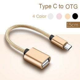 Otg Connector Australia - USB Type C to OTG Cable Adapter Converter Audio Cable splitter for otg cord alloy casing nylon wrie connector type-c