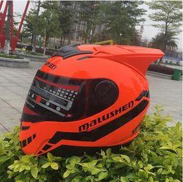 $enCountryForm.capitalKeyWord Australia - Full face helmet Orange Motorcycle helmet off road casque moto casco professional rally racing helmet with corn