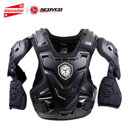Scoyco Racing Gear Australia - SCOYCO Motorcycle Armor Motocross Chest Back Protection Vest Motorcycle Jacket Racing Motos Protective Gear Body Armor CE