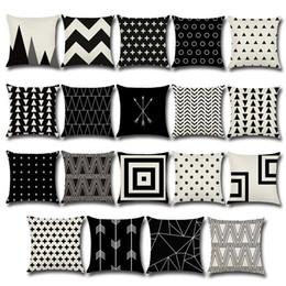 $enCountryForm.capitalKeyWord Australia - Abstract Pattern Geometry Arrow Linen Throw Pillow Case Cushion Cover Square Car Pillowcase Sofa Home Decor Sofa Pillowslip