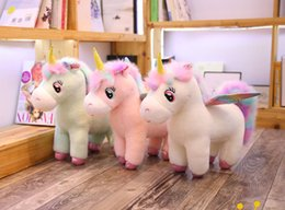 christmas gifts little boys Australia - 35*32CM Rainbow Unicorn Doll Soft Pillow Cute Little Horse Toy kids Party Plush toy Gifts for Children Wedding Gift Horse Plush Cushion toy
