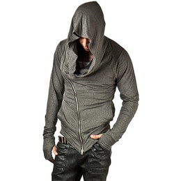 hoodie do credo do assassino venda por atacado-Brand Design Men Hoodies Hop Streetwear Zipper camisola Men Moda S Treino Homens Assassins Creed Hoodies
