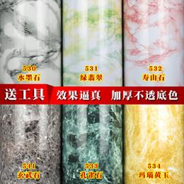$enCountryForm.capitalKeyWord Australia - DIY Marble paper kitchen oil-proof stove furniture sticker PVC refurbished bathroom cabinet waterproof bathroom self-adhesive wallpaper