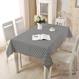 table cover pattern UK - Lanke Small checkered pattern Rectangle Tablecloth,Home Kitchen Decoration Dining Table Cover TableCloth