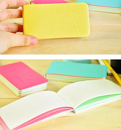 Discount small paper notebooks - Cute Smiling Face Notepads Carry On Memo Small Notebook Mini Strip Notepad A Variety Of Color Inside Page Jotter Univers