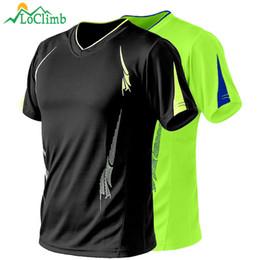 Camping T Shirts Australia - LoClimb Plus Size 9XL Men's Camping Hiking T-Shirt Men Summer Fitness Jersey Trekking Climbing Quick Dry Sport T Shirts AM260