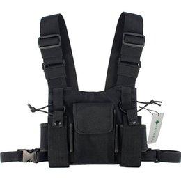 Модная нейлоновая сумка для снаряжения Черная безрукавка Хип-хоп Уличная одежда Функциональная тактическая оснастка Грудь Буровая установка Kanye West Wist Pack Bag Hot на Распродаже