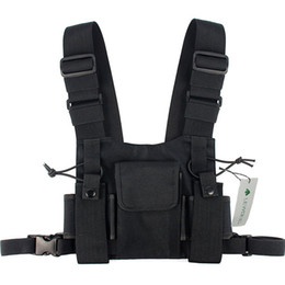 Großhandel Mode Nylon Chest Rig Bag Schwarz Weste Hip Hop Streetwear Funktionelle Tactical Harness Chest Rig Kanye West Wist Pack Bag Hot