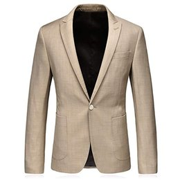 Stylish Formal Suits Australia - Mens Slim Fit One Button Blazer Jacket Casual Notched Lapel Stylish Blazer Dress Suit Great for casual formal occasion wear