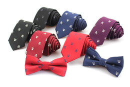 $enCountryForm.capitalKeyWord Australia - New Casual Slim Skull Ties For Men Classic Polyester Neckties Fashion Man Tie for Wedding Party Male tie Neckwear
