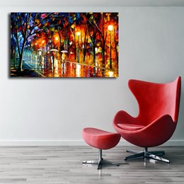 $enCountryForm.capitalKeyWord NZ - Evening Rain In The Park HD Canvas Painting Print Kitchen Living Bedroom Home Decor Modern Wall Art Oil Painting Poster Artwork