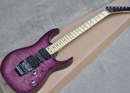 Mahogany veneer guitar online shopping - Customized factory retail best price purple electric guitar Tremolo and Maple fingerboard maple veneer cloud provide customiz