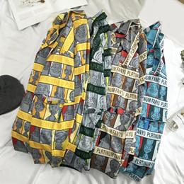 $enCountryForm.capitalKeyWord Australia - Short Sleeve Men Shirt Hawaiian Casual Shirt Male Fit Summer Pattern Shirts Cartoon Printed Mens Dress Shirts Plus