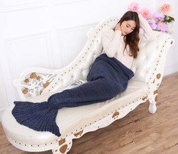 $enCountryForm.capitalKeyWord UK - New arrival 190*80cm Blanket Cotton Mermaid Tail Throw Home Sofa Picnic Travel Blankets Solid Winter Blankets Free shipping