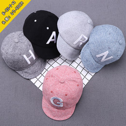 f32860c6 Korean Children baby Hats Kids Fashion Embroidered letter cotton designer baseball  cap boys girls Sun Hat snapbacks hats caps visor adjust