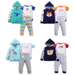 $enCountryForm.capitalKeyWord Canada - Children Girls Hoodies Coat High Quality Cotton Boys Rompers Toddler Infant Newborn Jumpsuits Long Pants Suits With Animal Floral Printing