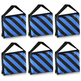 lit pack Australia - Neewer 6 Pack Black Blue Sand Bag Photography Studio Video Stage Film Saddlebag for Light Stands Boom Arms Tripods
