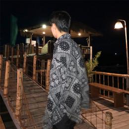 fashion dressing style men shirt 2019 - hawaiian Shirt 2019 Spring New Pattern Fashion Thin Long Sleeve Leisure Loose Coat Man streetwear Japan Style Free shipp
