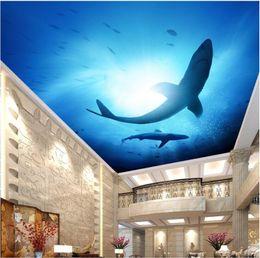 $enCountryForm.capitalKeyWord NZ - WDBH 3d ceiling mural wallpaper custom photo Underwater world shark painting living room home decor 3d wall murals wallpaper for walls 3 d