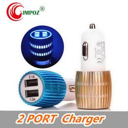 $enCountryForm.capitalKeyWord Australia - Universal USB Car Charger Socket 2 Port Charger Adapter Aluminum Alloy 2 USB Car charger For iPhone Samsung Cellphones SMARTPHONE
