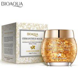 NourishiNg mask online shopping - Bioaqua Osmanthus Petal Mask Plant Bright Petals Clay Sleeping Nourishing Skin Care lifting Face Mask Acne Treatment Black mask