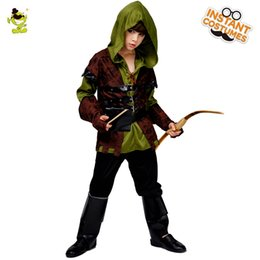 Movie Costume Design Australia - New Design Robin hood Deluxe Party Costumes Movie Role Cosplay Fancy Suit for Halloween Masquerade Party for Kids