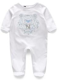 76eeba16bd Nuevos niños pijamas bebé mamelucos recién nacido ropa de bebé ropa  interior de manga larga traje de algodón niños niñas otoño mamelucos