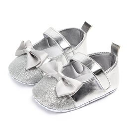 Baby Girl Summer Canvas Shoes Australia - Cute Bow Girl Baby Shoes Soft Bottom blingbling Baby Shoes Sequin Princess Toddler For Girl Spring Summer 0-12 Months