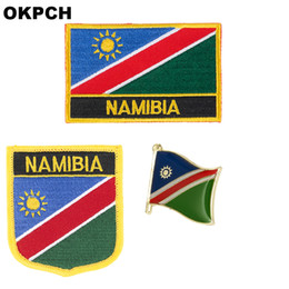 flag patches for clothes NZ - Namibia flag patch badge 3pcs a Set Patches for Clothing DIY Decoration PT0135-3