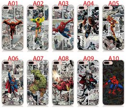 comic cases Australia - For iPhone 11 Pro XS XR XS Max X 5 5S 6 6S 7 8 Plus case Soft TPU Print pattern Marvel Comics High quality phone cases