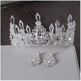 Tiara Bridal Accessories Crown Hair Australia - Clear Ice Queen Crown Tiara Retro Bridal Hair Tiara Jewelry Banquet Party Hair Accessories C19041101