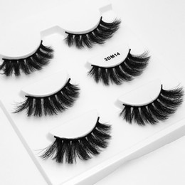 $enCountryForm.capitalKeyWord UK - 3DM14 New Women's Eyelashes Japanese 3D Layers Water Mink 3 Pairs Thick Nude Handmade Soft Thick Messy Cross Natrual Looking Black Color