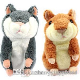 electronic hamsters NZ - Speaking kid Toy Russian Talking hamster wooddy time stuffed animal toys repeat what u said in any language
