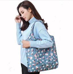 $enCountryForm.capitalKeyWord Australia - 1PC Foldable Shopping Bag Large-capacity Waterproof Cloth Bag Grocery Shopping Repeatable Use Storage Can Wash Organizer